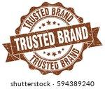 trusted brand. stamp. sticker.... | Shutterstock .eps vector #594389240