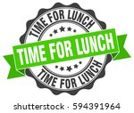 time for lunch. stamp. sticker. ... | Shutterstock .eps vector #594391964