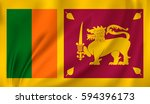 flag of sri lanka waving in the ... | Shutterstock .eps vector #594396173