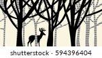 vector design of large buck... | Shutterstock .eps vector #594396404