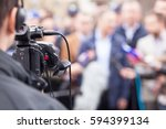 filming an media event with a... | Shutterstock . vector #594399134