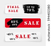 set of sale banners or website... | Shutterstock .eps vector #594402380