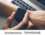 smartwatch   Shutterstock . vector #594406448