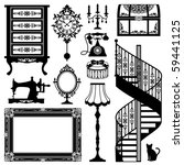antique furniture | Shutterstock .eps vector #59441125