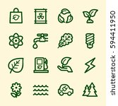 ecology web icons.  green... | Shutterstock .eps vector #594411950