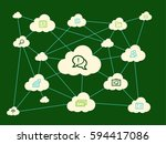 cloud computing concept | Shutterstock .eps vector #594417086