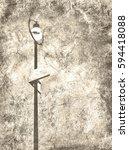 urban street lamp with empty... | Shutterstock . vector #594418088