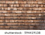 Texture Of Wooden Tile Roof
