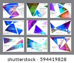 colorful geometric brochure... | Shutterstock .eps vector #594419828