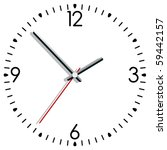 vector illustration of a clock | Shutterstock .eps vector #59442157