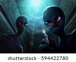 alien nightmare | Shutterstock . vector #594422780