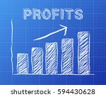 increasing graph and profits... | Shutterstock . vector #594430628