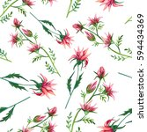 seamless pattern of watercolor... | Shutterstock . vector #594434369