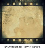 grunge film strip background | Shutterstock . vector #594448496