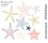 starfish graphic collection | Shutterstock .eps vector #594450464