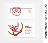 color business card template | Shutterstock .eps vector #594451220