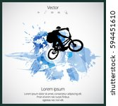 silhouette of bicycle jumper | Shutterstock .eps vector #594451610