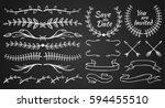 set of floral design element.... | Shutterstock .eps vector #594455510