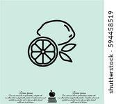 web line icon. lemon | Shutterstock .eps vector #594458519