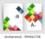 modern minimalistic geometrical ... | Shutterstock .eps vector #594461738