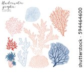 corals graphic collection | Shutterstock .eps vector #594464600