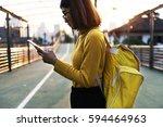 woman travel trip wanderlust...   Shutterstock . vector #594464963