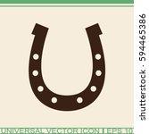 Stock vector horseshoe vector icon 594465386