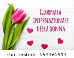 Women's Day Card With Italian...