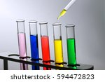 laboratory glassware with... | Shutterstock . vector #594472823