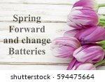 spring forward message  a... | Shutterstock . vector #594475664