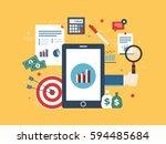 flat design vector illustration ... | Shutterstock .eps vector #594485684