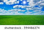 image of green grass field and... | Shutterstock . vector #594486374