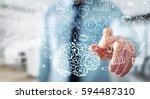 businessman on blurred... | Shutterstock . vector #594487310