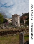 Small photo of The Roman Agora (Romaiki Agora) & the Tower of the Winds, Plaka, Athens, Greece