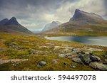 Mountain Landscape. Rocky Shor...