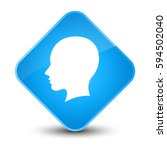 head female face icon isolated... | Shutterstock . vector #594502040