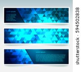 horizontal banners set with... | Shutterstock .eps vector #594502838