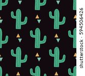 vector seamless pattern with... | Shutterstock .eps vector #594506426