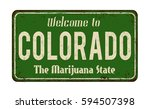 welcome to colorado vintage... | Shutterstock .eps vector #594507398