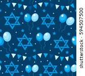 happy israel independence day... | Shutterstock .eps vector #594507500