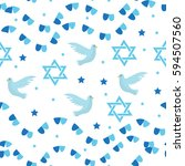 happy israel independence day... | Shutterstock .eps vector #594507560