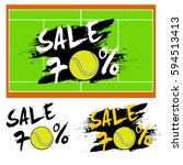 set banners sale 70 percent... | Shutterstock .eps vector #594513413