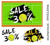 set banners sale 30 percent... | Shutterstock .eps vector #594513446