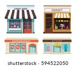 storefront. set of different... | Shutterstock .eps vector #594522050