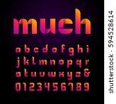 ribbon font. vector alphabet... | Shutterstock .eps vector #594528614
