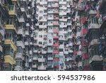 low angle view image of a... | Shutterstock . vector #594537986