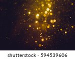 gold abstract bokeh background | Shutterstock . vector #594539606