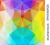 polygonal colorful background.  ... | Shutterstock .eps vector #594540920