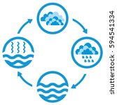 water cycle infographics. the... | Shutterstock .eps vector #594541334
