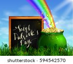 st. patrick s day symbol green...   Shutterstock .eps vector #594542570